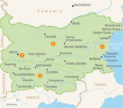 map of bulgaria map of bulgaria bulgaria regions guides guides