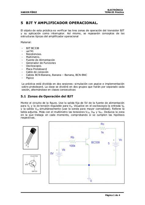 lificador operacional y transistor bjt pr 225 ctica 1