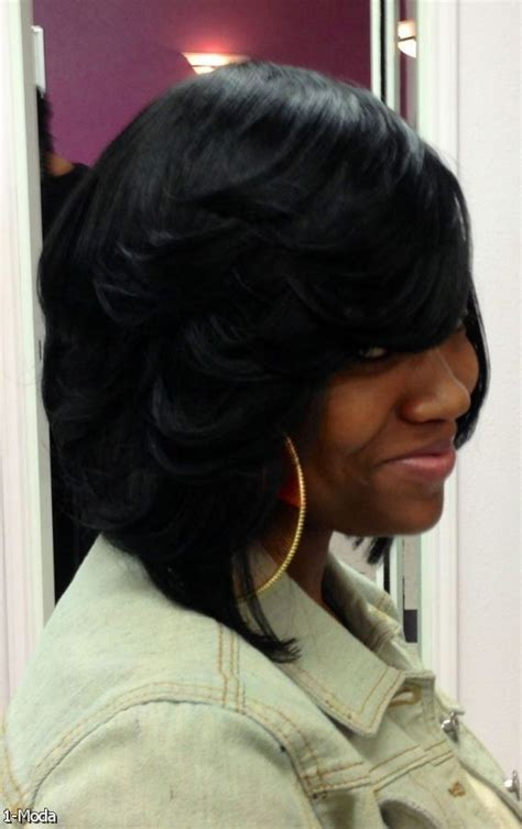 sew in hairstyles for black women 2015 17 best ideas about feathered bob on pinterest black bob