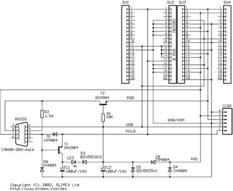serial port pic programmer circuit diagram simple serial port pic programmer circuit programming