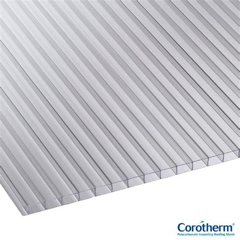 polycarbonate twinlite 10 mm corotherm 10mm clear twinwall polycarbonate sheet 2000mm