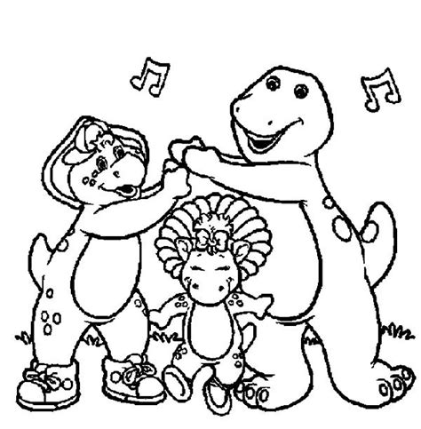 barney the dinosaur coloring pages gianfreda net
