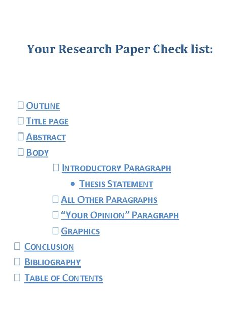 parts of research paper parts of research paper definition and guidelines