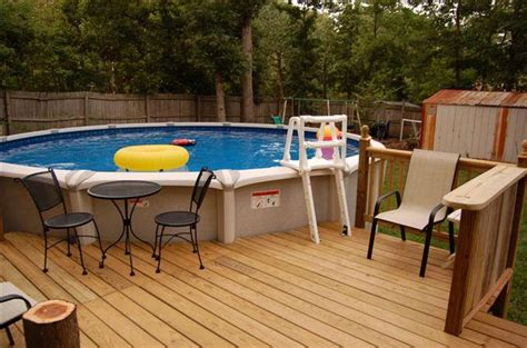 Deck Design Ideas For Above Ground Pools by Above Ground Swimming Pool Deck Designs Backyard Design