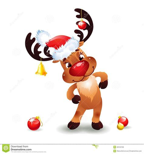 scarica clipart reindeer stock vector image of eps10