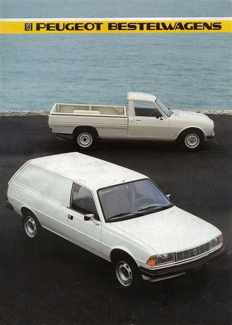 peugeot commercial 1985 peugeot commercials brochure
