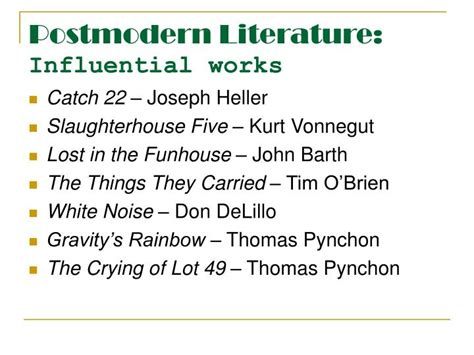 Postmodern Literature ppt postmodernism powerpoint presentation id 1773271