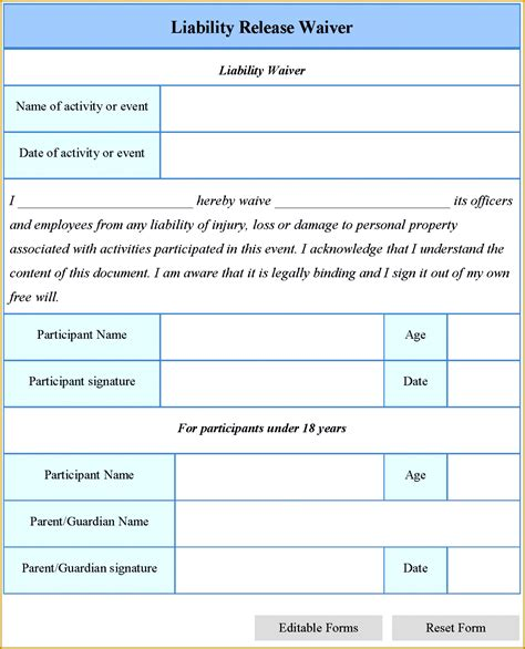 fitness waiver and release form template 6 fitness waiver and release form template fabtemplatez