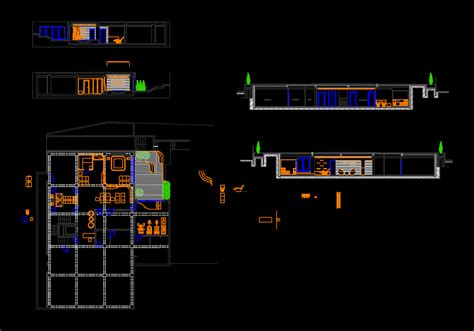 design center in cad spa center with pool and furniture 2d dwg design plan for