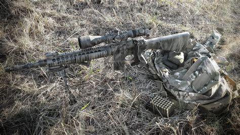 mk  sniper rifle weapon bag grass hd wallpaper