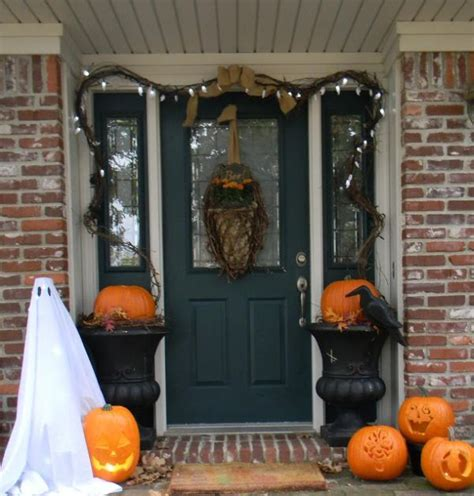 how to decorate your home for halloween the best 35 front door decors for this year s halloween