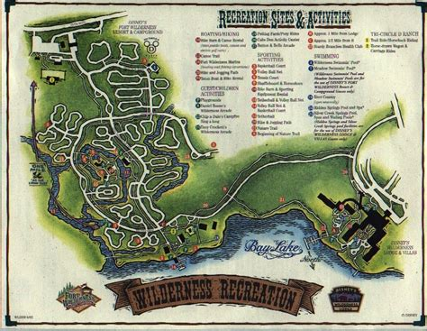 Disney Fort Wilderness Cabins Map by Wilderness Lodge Fort Wilderness Exercise Trail