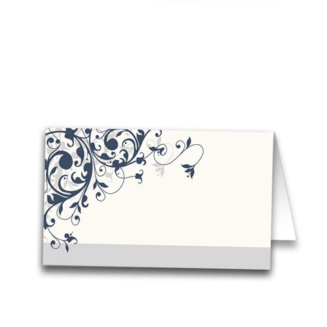 How Much Gift Card For Wedding - taylor suite place card navy blue swirl for guests seating