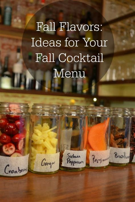 fall flavors ideas for your fall cocktail menu drinkwire - Fall Cocktail Menu Ideas