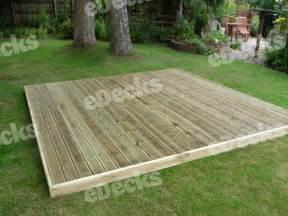 garden decking kit 3 6m x 3 6m easy deck kit no handrails