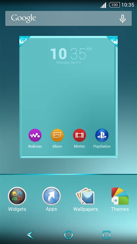 xperia themes play store shiny cyan theme for xperia android apps on google play