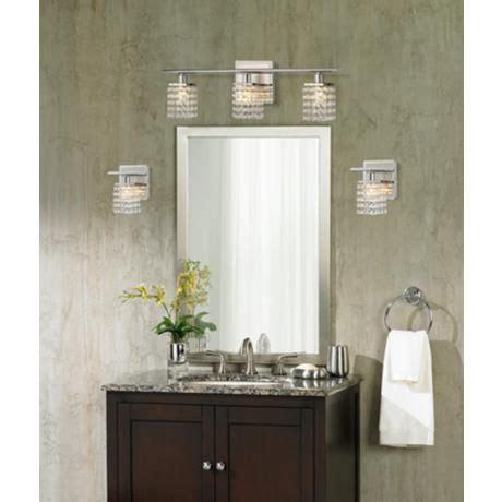 bathroom crystal light fixtures sparkle chrome 23 1 4 quot wide crystal bathroom light fixture