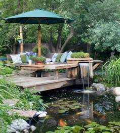 Backyard Bassin by D 233 Coration De Jardin Avec Une Fontaine Pour Bassin Pond