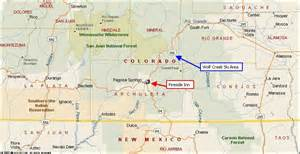 map pagosa springs colorado pagosa springs colorado lodging fireside inn and cabins