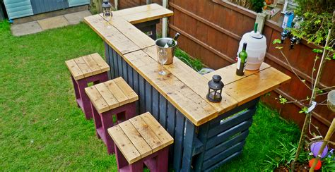 The garden bar made from reclaimed timber and discarded pallets green thumb print