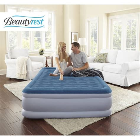 simmons beautyrest extraordinaire raised air bed mattress with iflex support and built in