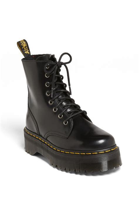 dr marten boots for dr martens jadon boot in black lyst