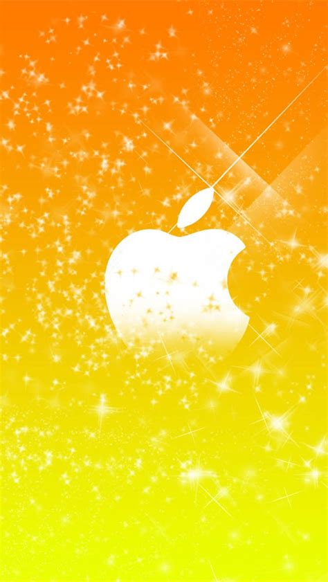 wallpaper iphone 5 yellow apple yellow stars background iphone wallpaper 640x1136