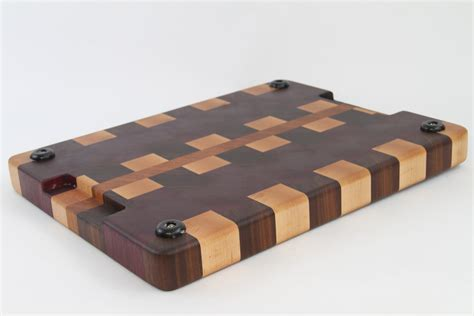Handcrafted Board - handcrafted wood cutting board end grain maple cherry