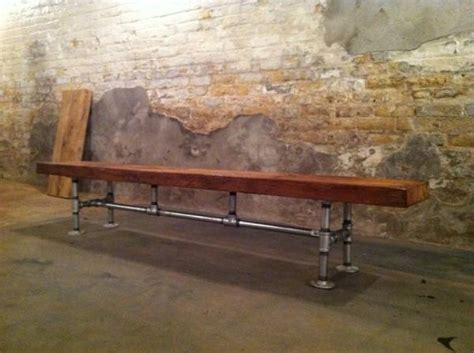 galvanized pipe bench 7 hand built wood and galvanized pipe bench for the dale