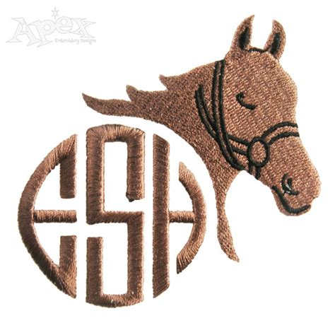 embroidery design horse horse monogram embroidery design frames