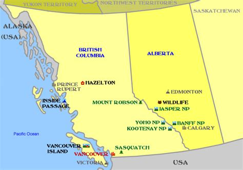 south west canada map 50 plus dc southwest canada