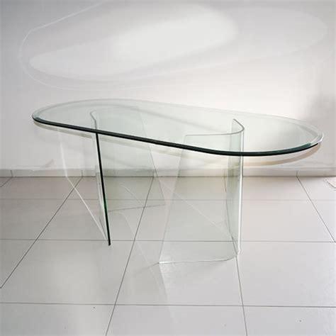 tavolo cristallo ovale tavolo fiam ovale in vetro