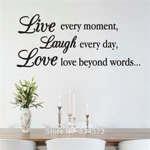 inspirational wall murals aliexpress com buy live laugh love inspirational wall
