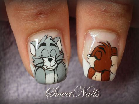 funny cartoon tom  jerry nail art nail art design
