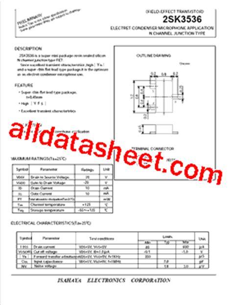 capacitor microphone datasheet 2sk3536 datasheet pdf isahaya electronics corporation