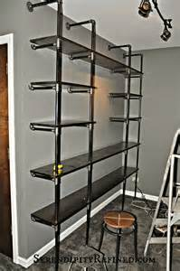 15 Inch Wide Bookcase Serendipity Refined Blog Diy Industrial Pipe Shelves For