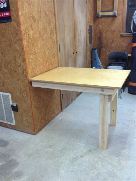 diy fold down table wilker do s diy fold down workbench