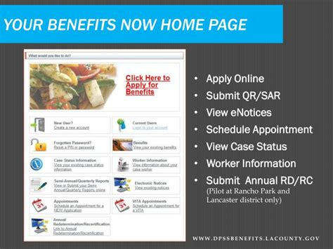 ppt your benefits now dpssbenefits lacounty dpss self