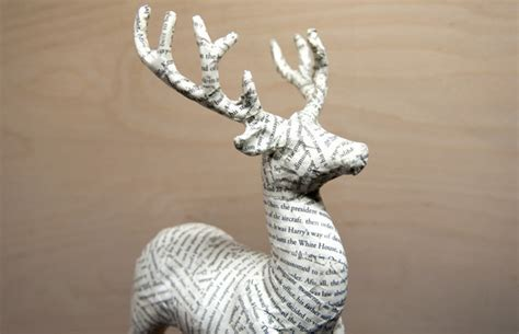 Paper Mache Reindeer Craft - how to give a gaudy glitter reindeer a papier