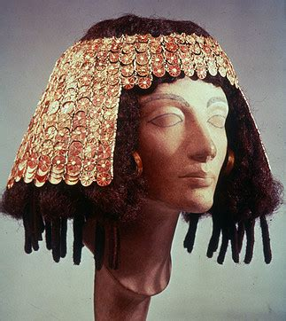 egyptian hairstyles history inlaid golden hair ornament of one of the wives of