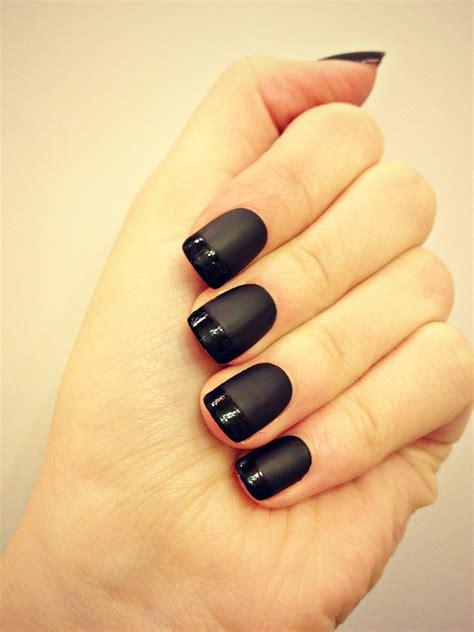 matte black nail designs sybella nails black matte manicure nails