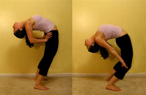 arching back stretch it standing spinal arch popsugar fitness