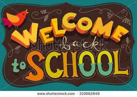 Come With Me Welcome Back The Look by Welcome Back School Poster Blackboard Design Vectores En