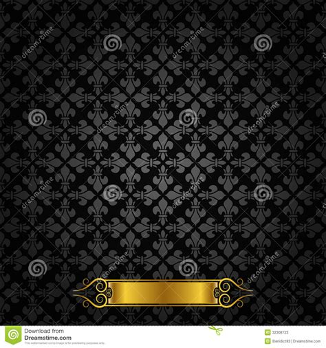 yellow royal pattern vintage royal background pattern stock vector image
