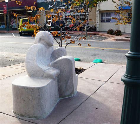 girls bench city of novato bench project novato ca madeline wiener sculpture