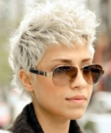 short and spikey grey hair short spiky grey hair best short hair styles