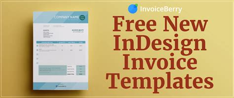 indesign templates free free new indesign invoice templates invoiceberry