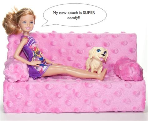 how to make a barbie couch easy diy barbie couch kids kubby