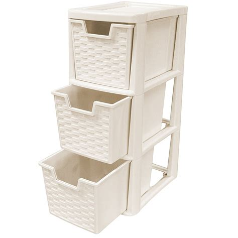 small drawer unit argos rattan style plastic small 3 drawer tower storage unit for
