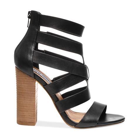steve madden sandals black steve madden womens cruizz caged sandals in black black